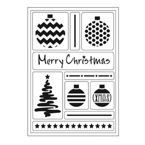 400409500 VivaDecor sjabloon Merry Christmas