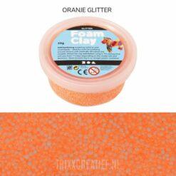 78863 Foam Clay Oranje Glitter