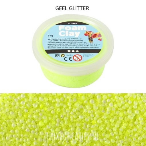 78864 Foam Clay Geel Glitter