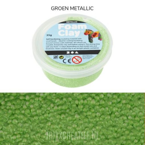 788790 Foam Clay Groen Metallic