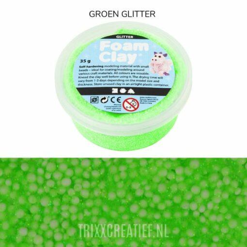 788830 Foam Clay Groen Glitter