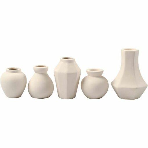50556_1 set vaasjes kandelaars wit terracotta