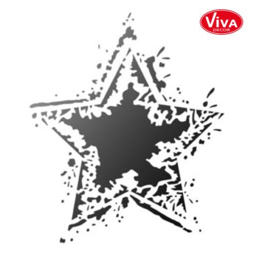 900280500 VivaDecor sjabloon Rocking Star