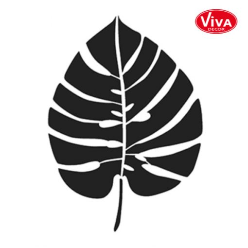 900288900 VivaDecor sjabloon A4 Monstera blad groot