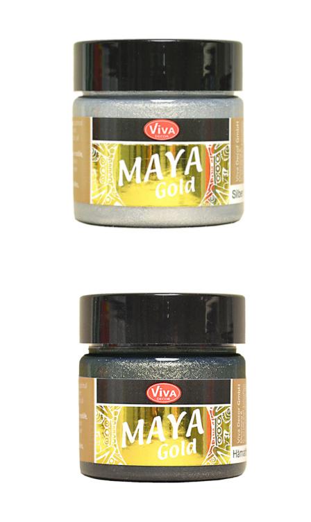 Maya Gold Metallic verf Zilver Zwart