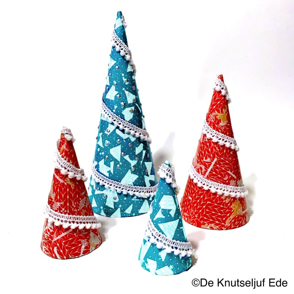 265490 Kerst Kegels met Decopatch - De Knutseljuf