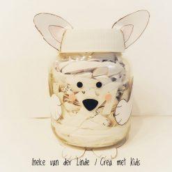 29114 Pooldier Stickers op jampotje - Crea met Kids
