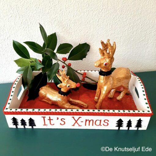 575300 NO735 en NO739 Kerst Dienblad met Hertjes - De Knutseljuf
