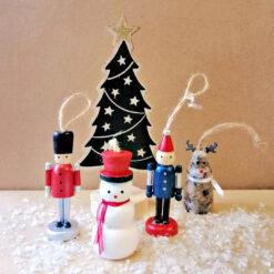 Houten Kersthangers van Anne Langen