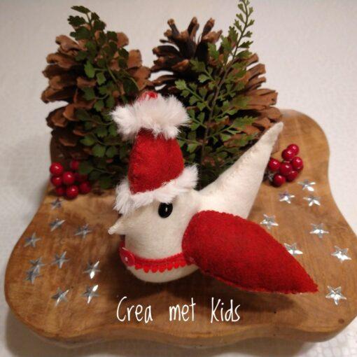 Crea met Kids Kerst Vogel