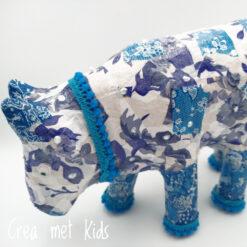 Delfts blauwe koe van Crea met Kids 510700