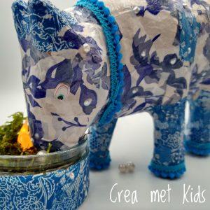 Delfts blauwe koe van Crea met Kids