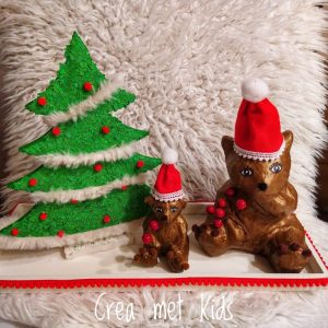 GOM1177 en AP110 en SA174 Kerstboom met Beren - Crea met Kids