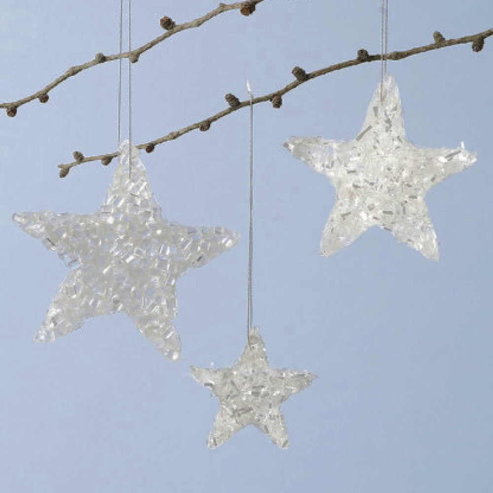 Sterren van Glitter Wit Kunstsneeuw 283850 + Sticky Clay
