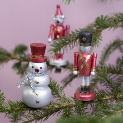 Houten Kersthangers Sneeuwpop en Notenkraker