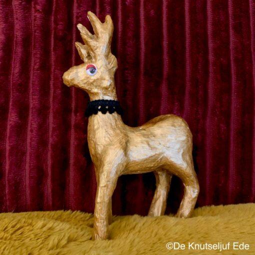 NO735 Decopatch Hert met Goud Metallicverf - De Knutseljuf