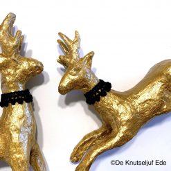 NO735 en NO739 Gouden Kerst Hertjes - De Knutseljuf