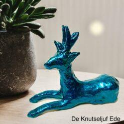 NO739 Decopatch Hert met Turquoise Metallicverf - De Knutseljuf