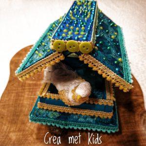 Vogelvoederhuisje met Décopatch van Crea met Kids 57968