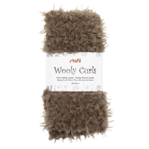 24001402 Stafil Wooly Curls stof Bruin 30x40 cm