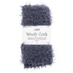 24001403 Stafil Wooly Curls stof Grijs 30x40 cm
