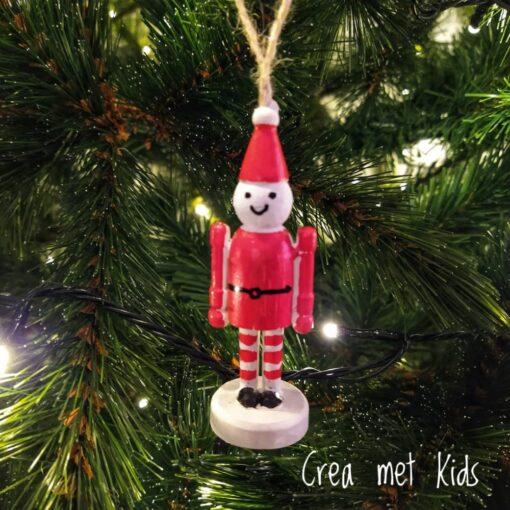 565116 Houten Kersthanger Clown - Crea met kids