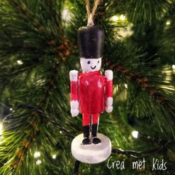 56814 Houten Kersthanger Notenkraker - Crea met kids