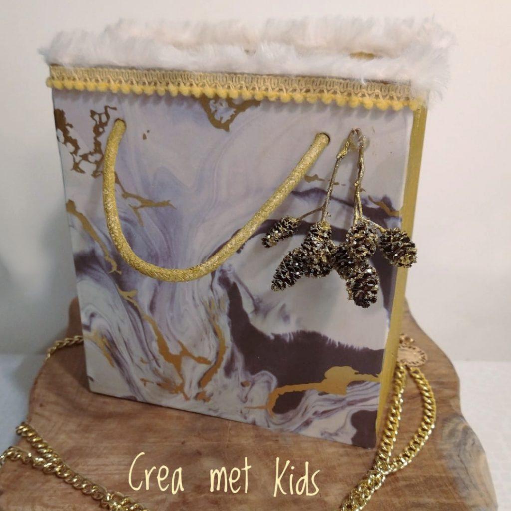 577420 Chique Houten Kado Tasje - Crea met Kids