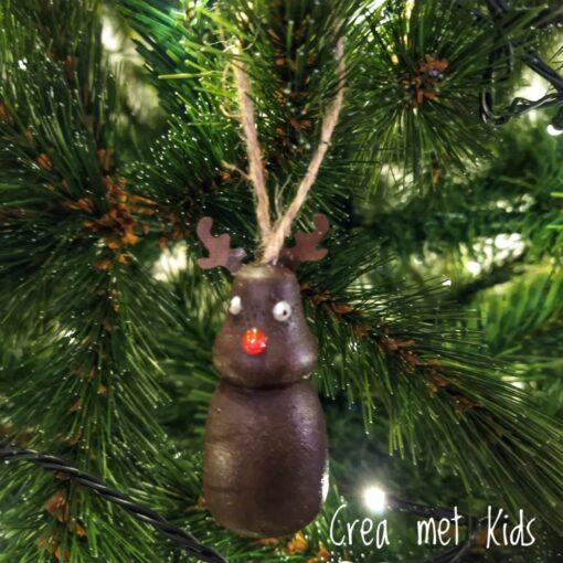58059 Houten Kersthanger Rendier - Crea met kids