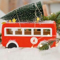 863402 Houten VW Bus DIY Kit - Kerst