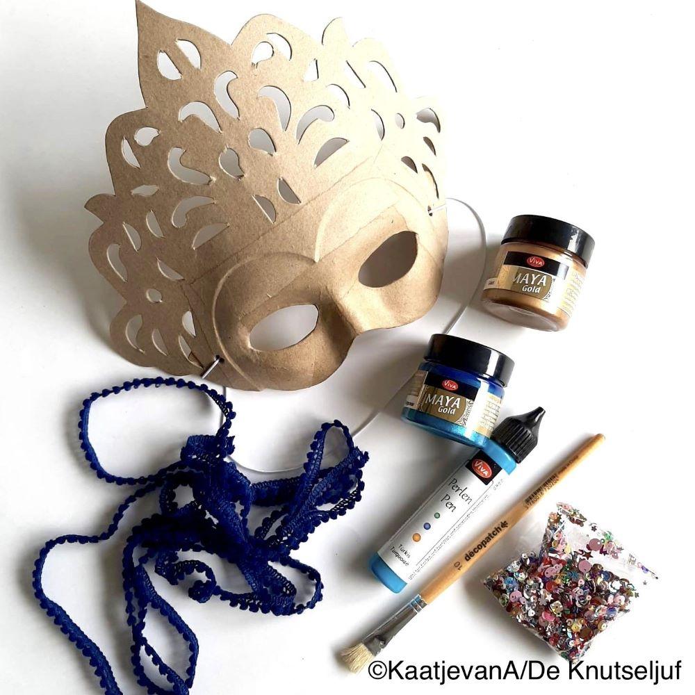 AC786 Decopatch Masker met Metallicverf - De Knutseljuf