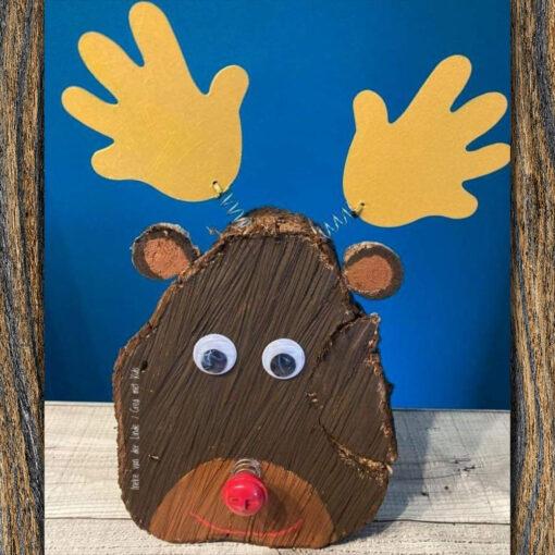 GOM588 Handjes met Rudolf - Crea met kids