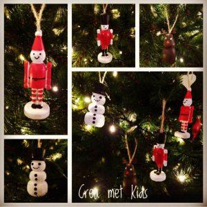 Houten Kersthangers - Crea met Kids