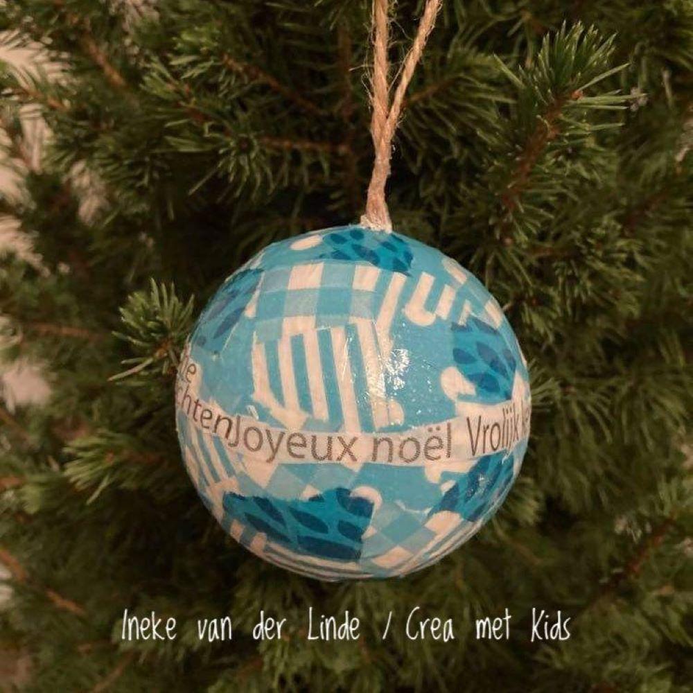 Kerstbal FDA549 en FDA651 Turquoise - Crea met kids