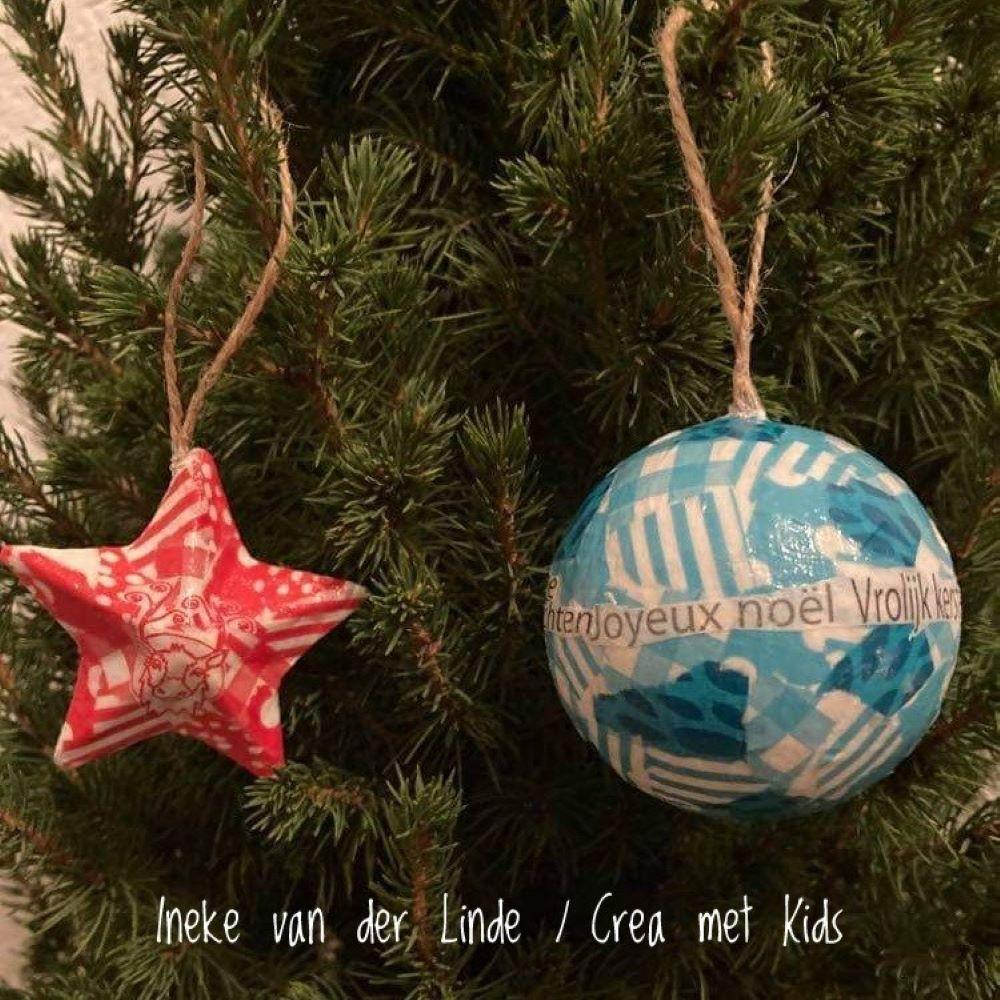 Kerstbal en Ster FDA484 FDA608 FDA812 Rood - Crea met kids