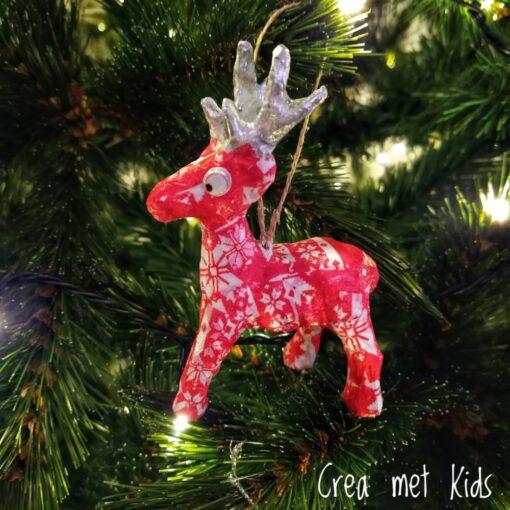 NO022 Décopatch Kersthanger Rendier - Crea met Kids