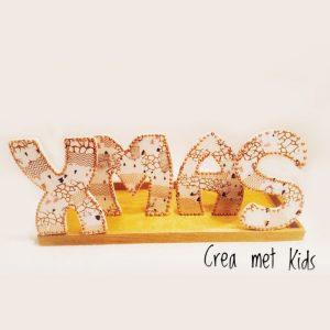 PKT06 MDF Letters XMAS met Decopatch - Crea met Kids