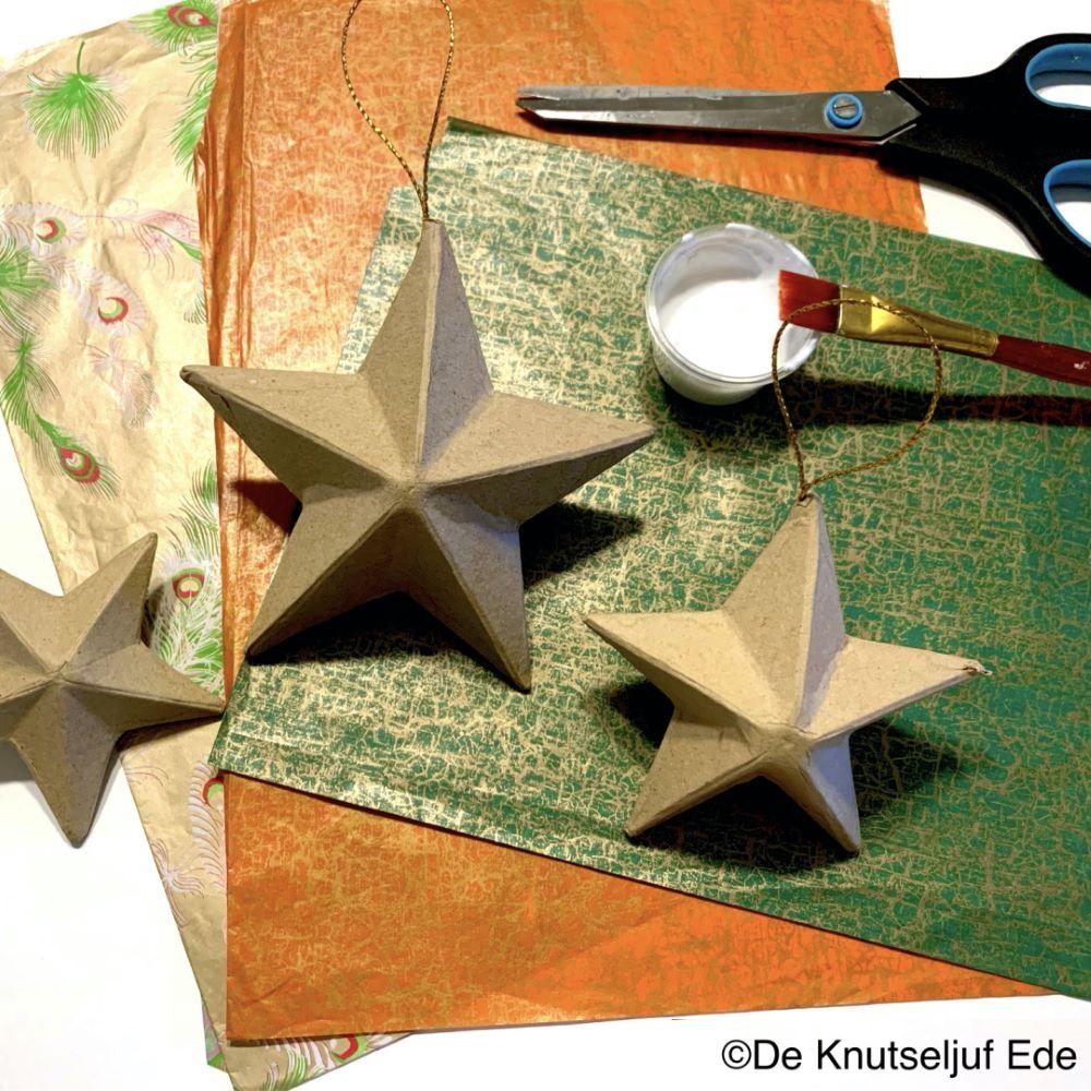 QXM173 Kerst sterren met Décopatch - De Knutseljuf