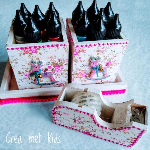 Houten Bureauset Décopatch - Crea met Kids