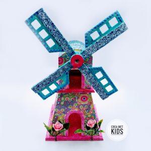 SL178 Houten Molen Décopatch - Crea met Kids