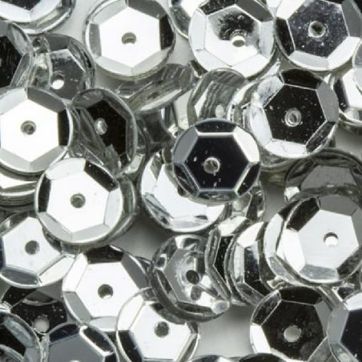 12212-1201 Pailletten 6 mm - Zilver