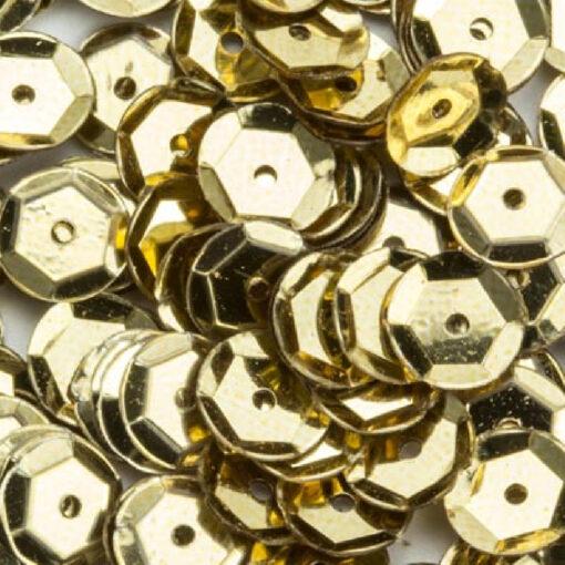 12212-1202 Pailletten 6 mm - Goud