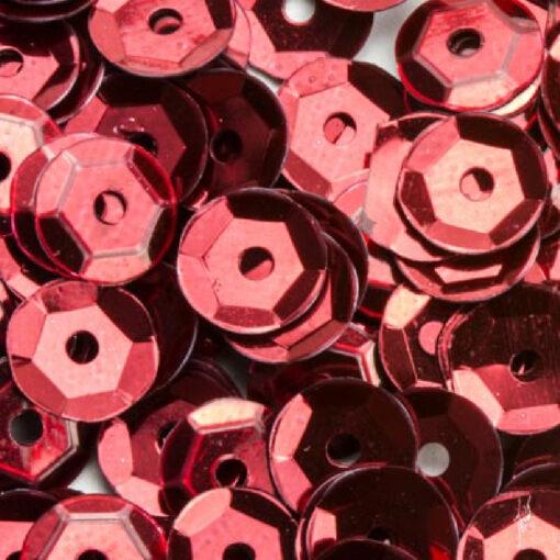 12212-1204 Pailletten 6 mm - Rood