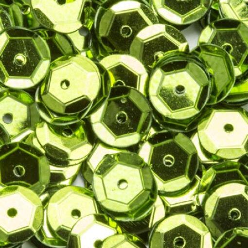 12212-1206 Pailletten 6 mm - Licht Groen