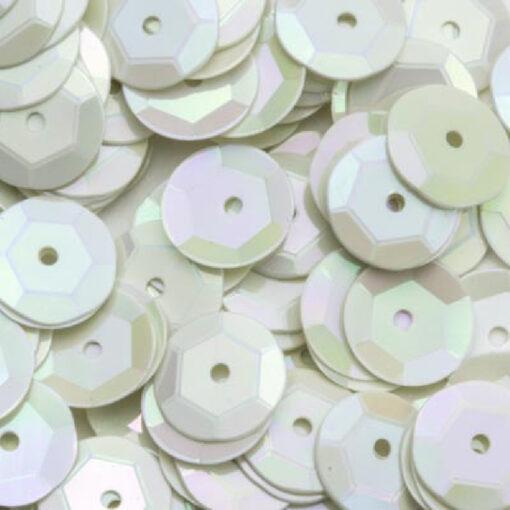 12212-1221 Pailletten 6 mm - Wit parelmoer