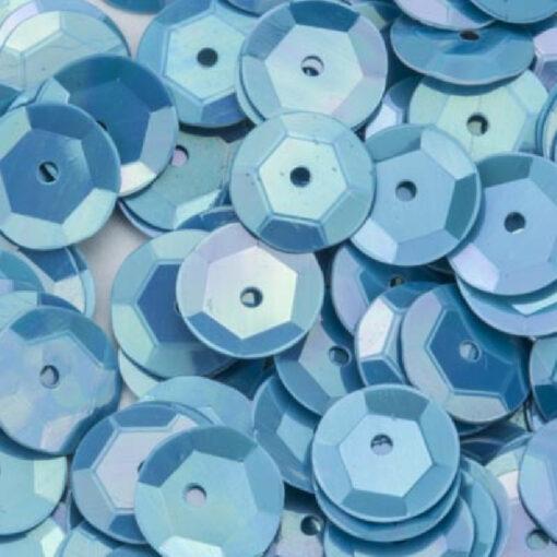 12212-1222 Pailletten 6 mm - Licht Blauw parelmoer