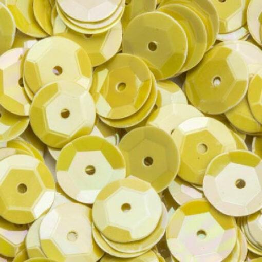 12212-1224 Pailletten 6 mm - Licht Geel parelmoer