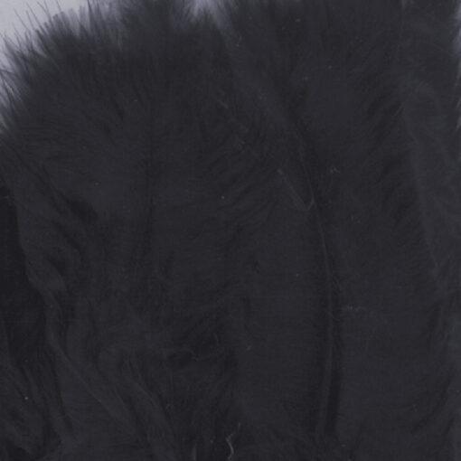 12228-2801 Marabou Veren Zwart - Black