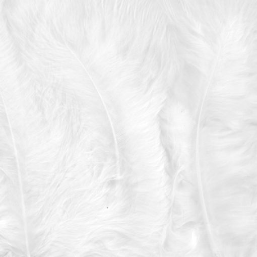 12228-2802 Marabou Veren Wit - White