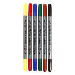 34819 Textielstiften 6 Stuks - Primaire Kleuren